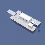 Катамаран грузопассажирский, катамаран для работ на воде, водная вахта, Саратов